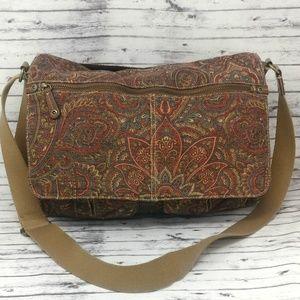 FOSSIL Paisley Print Messenger Handbag